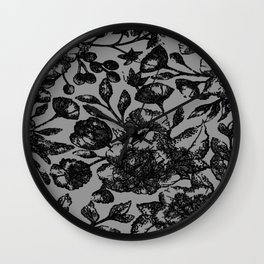 Black & White Floral Wall Clock