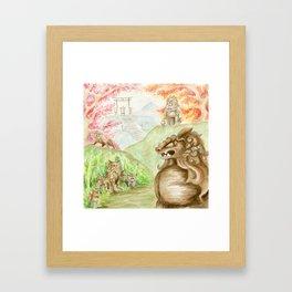 Guardian Lions Framed Art Print