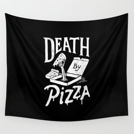 Death by Pizza Wall Tapestry
