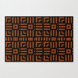Warm African Geometric Tribal Design Canvas Print