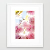 cherry blossom Framed Art Prints featuring Cherry Blossom by 2sweet4words Designs
