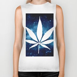 Weed : High Times Blue Galaxy Biker Tank