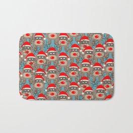 Santa Reindeers Bath Mat