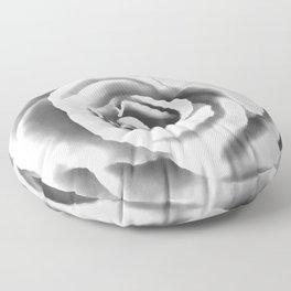 Big White Rose Floor Pillow