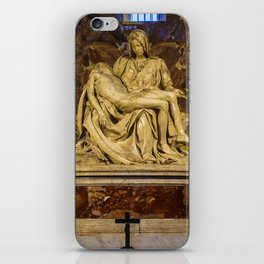 La Pieta Sculpted by Michelangelo photographed at St-Peter's Basilica iPhone Skin