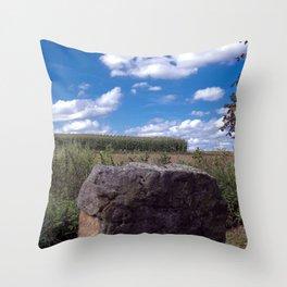 Landscape rock Throw Pillow
