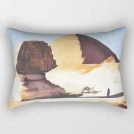 The Great Sphinx And Pyramid Rectangular Pillow
