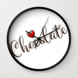 Love Chocolate Wall Clock