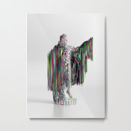 Apollo Glitched Metal Print