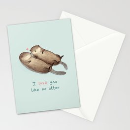 I Love You Like No Otter Stationery Cards