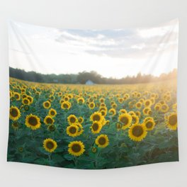 Sunflower Day Wall Tapestry