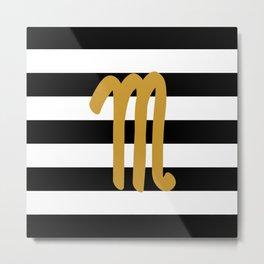Scorpio Stripes Metal Print