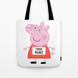 Peppa pig free hugs Tote Bag
