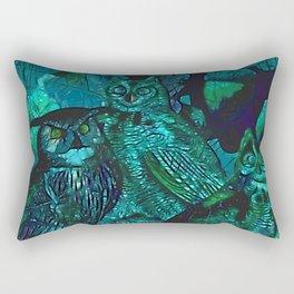 Blue Owls Rectangular Pillow
