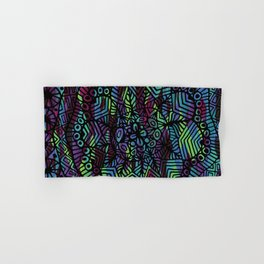 Purple and Green Doodle 14 Hand & Bath Towel