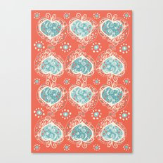 Nordic Heart Canvas Print