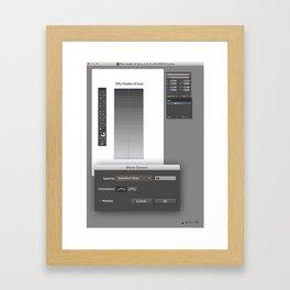 50 SHADES OF GREY vs ADOBE ILLUSTRATOR Framed Art Print