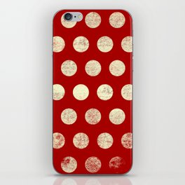 Polka Dots Mahogany Grain iPhone Skin