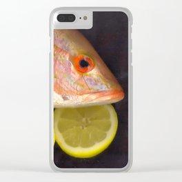 Fish & Lemons Clear iPhone Case