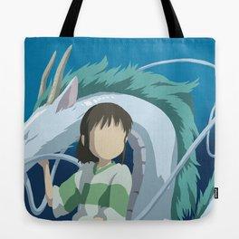 Minimalistic Spirited Away Chihiro and Haku Tote Bag