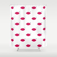 lips Shower Curtains featuring lips by namaki