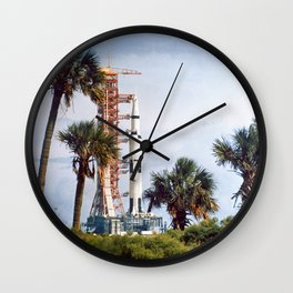 Apollo 8 - Tropical Launch Pad Florida Wall Clock