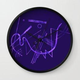 Kandinsky - Purple Abstract Art Wall Clock