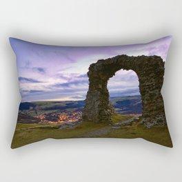 Town on the edge of forever Rectangular Pillow