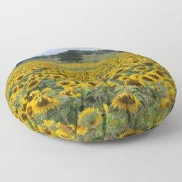 Field of a Million Sunfowers I Floor Pillow