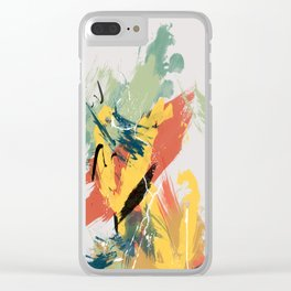 Intuitive Conversations, Abstract Mid Century Colors Clear iPhone Case