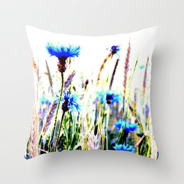 Centaurea flowers Throw Pillow