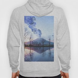 Mount Fuji Eruption-Mt. Fuji Japan-Abstract Japanese Nature Collage Hoody