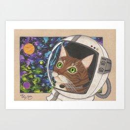 Catstronaut Art Print