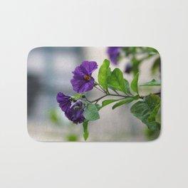 Solanum Rantonnetii With Garden Background  Bath Mat
