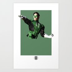 Green Lantern Polygon Mesh Art Print