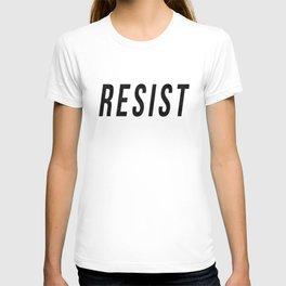 RESIST 1.0 - Black on Teal #resistance T-shirt