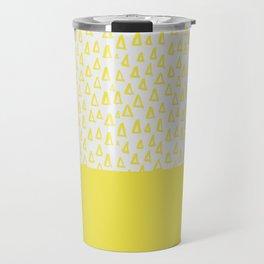 Triangles yellow Travel Mug