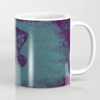alice in wonderland Mugs featuring Alice in Wonderland by Drew Wallace