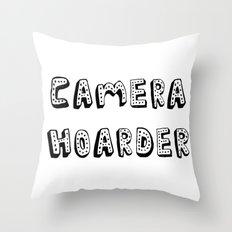Camera Hoarder Throw Pillow