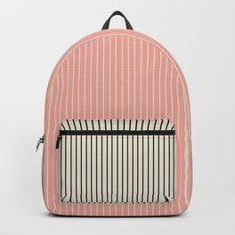 Color Block Lines XIV Vintage Pink Backpack