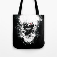 tokyo ghoul Tote Bags featuring Kaneki Tokyo Ghoul by Prince Of Darkness