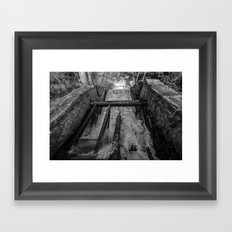 Rush(Black & White) Framed Art Print