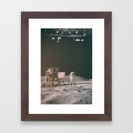 Moon Landing - Stanley Kubrick outtakes Framed Art Print