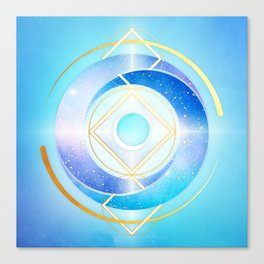 Icy Golden Winter Swirl :: Floating Geometry Canvas Print