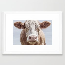 Cow Portrait Colour | Minimalism Framed Art Print