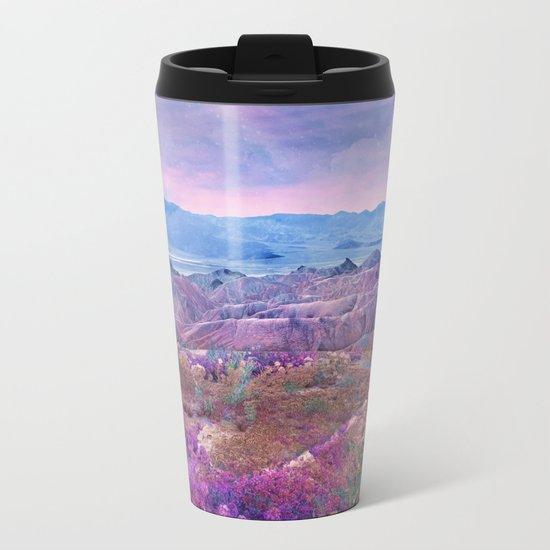 Life Valley California Desert Blooming Fantasy Metal Travel Mug