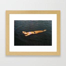 YOUTH BATHING  Framed Art Print