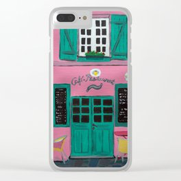 Cafe Maison Rose Clear iPhone Case