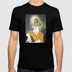 Who's The Monkey, In This Monkey World ? Mens Fitted Tee Black MEDIUM