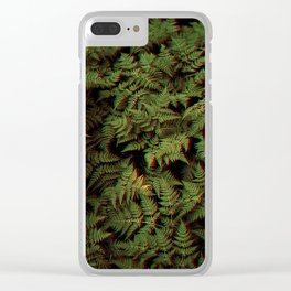 Botanical modern art - ferns Clear iPhone Case